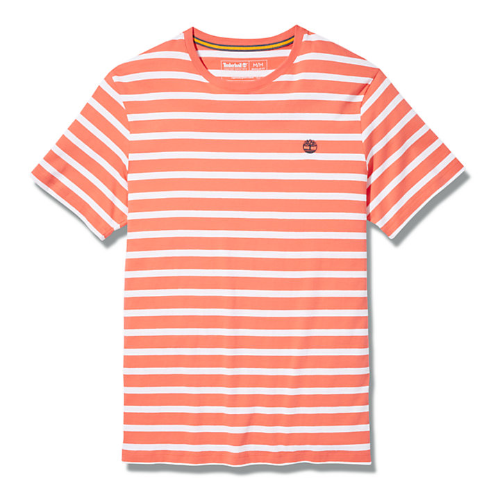 Zealand River Striped T-Shirt for Men in Red-