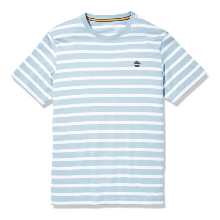 Zealand River Herren-T-Shirt mit Streifen in Blau-