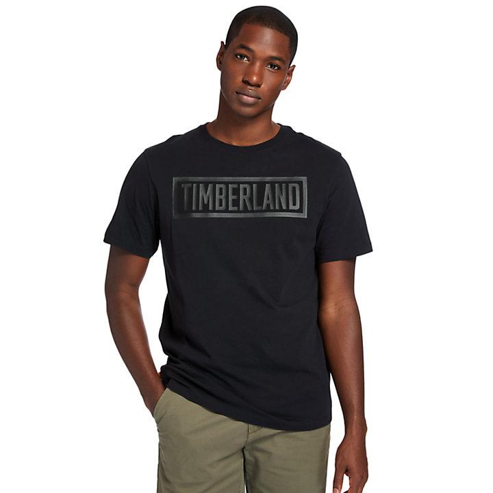 Camiseta con Logotipo Mink Brook para Hombre en color negro-