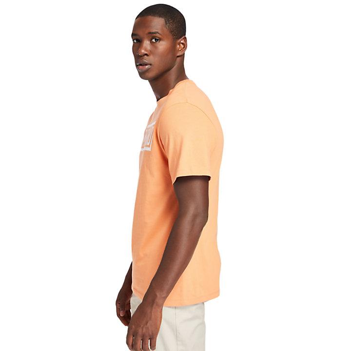 T-shirt à logo Mink Brook pour homme en rose clair-