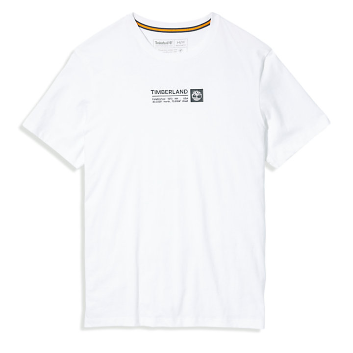 Brand Carrier Mini Logo T-shirt voor heren in wit-