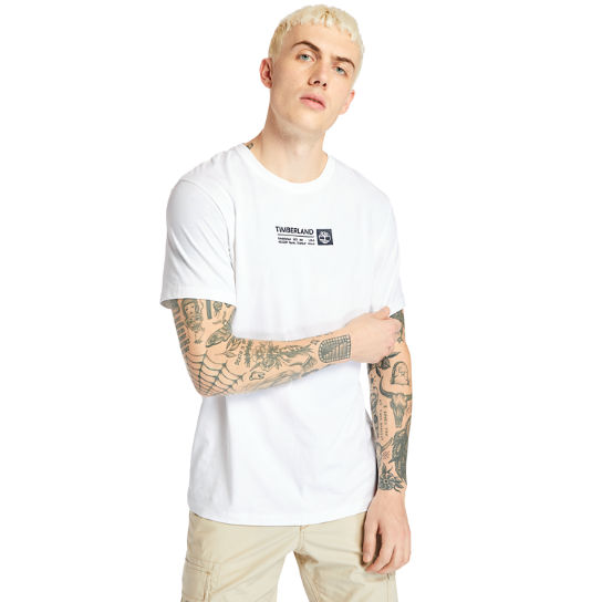 Brand Carrier Mini Logo T-shirt voor heren in wit | Timberland