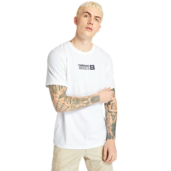 Brand Carrier Mini Logo T-Shirt for Men in White-