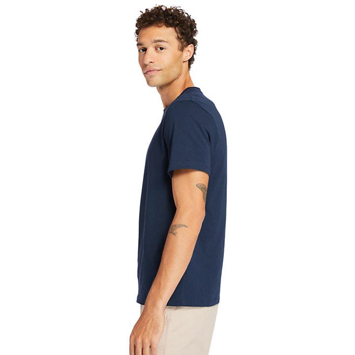 Brand Carrier Mini Logo T-Shirt for Men in Navy-