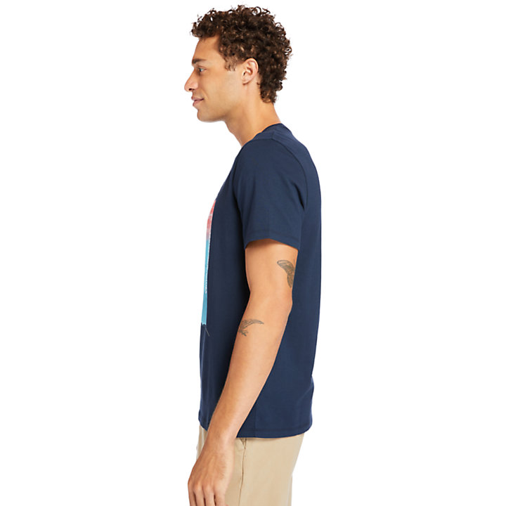 Photographic T-Shirt for Men in Navy-
