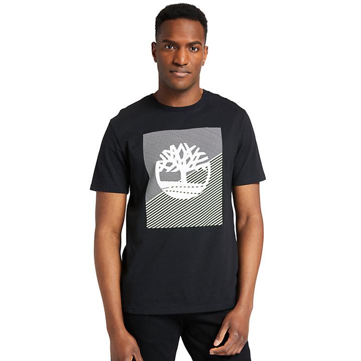 T-shirt da Uomo con Logo Grafico in colore nero-