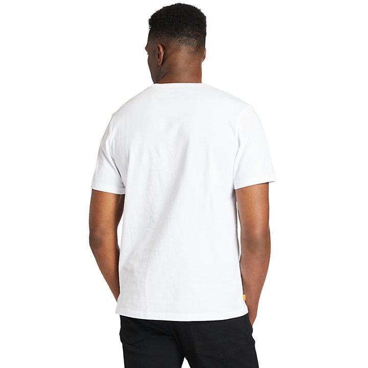 Graphic Logo T-Shirt for Men in White-