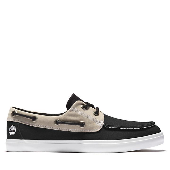 Union Wharf Boat Shoe for Men in Black-