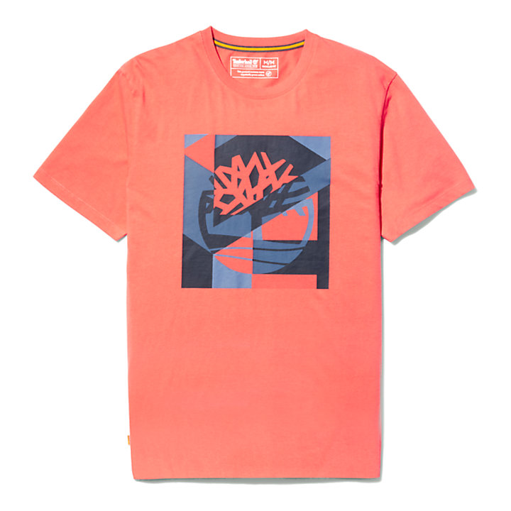 Coastal Cool Graphic Logo T-shirt for Men in Pink-