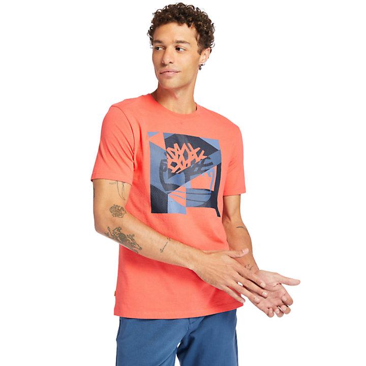 Coastal Cool Graphic Logo T-shirt voor heren in roze-