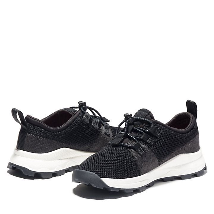 Brooklyn Flexi Knit Oxfords für Kinder in Schwarz-