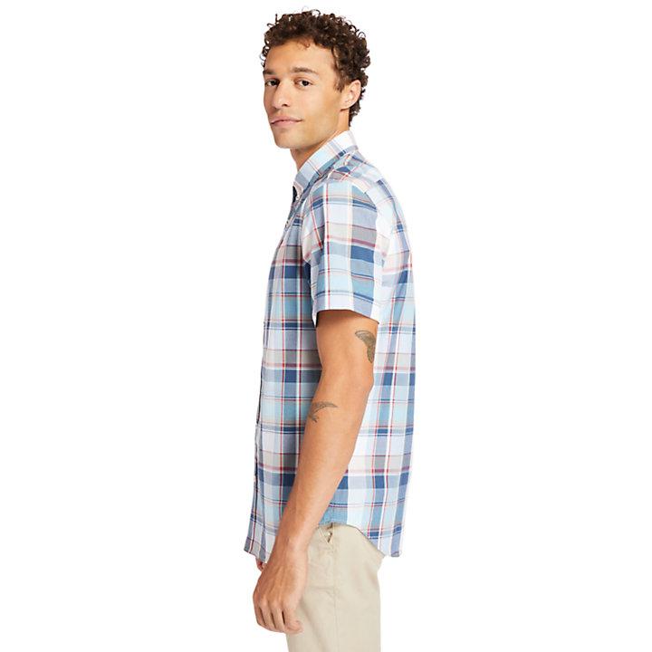 Camicia da Uomo in Popeline Madras in bianco-