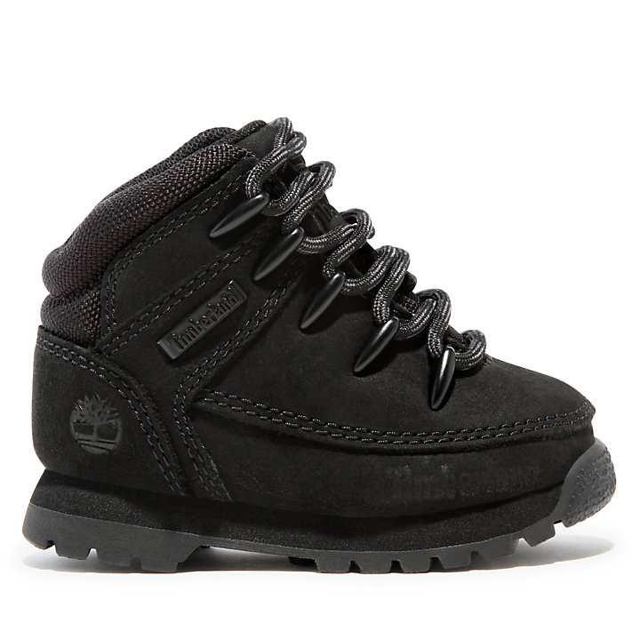 Euro Sprint Hiker for Toddler in Black Nubuck-