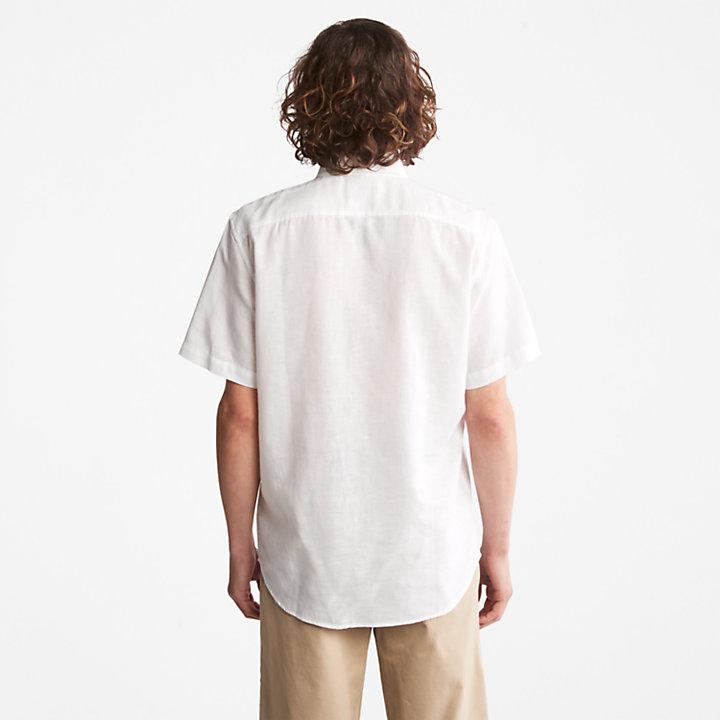 Lovell Linen/Cotton Shirt for Men in White-