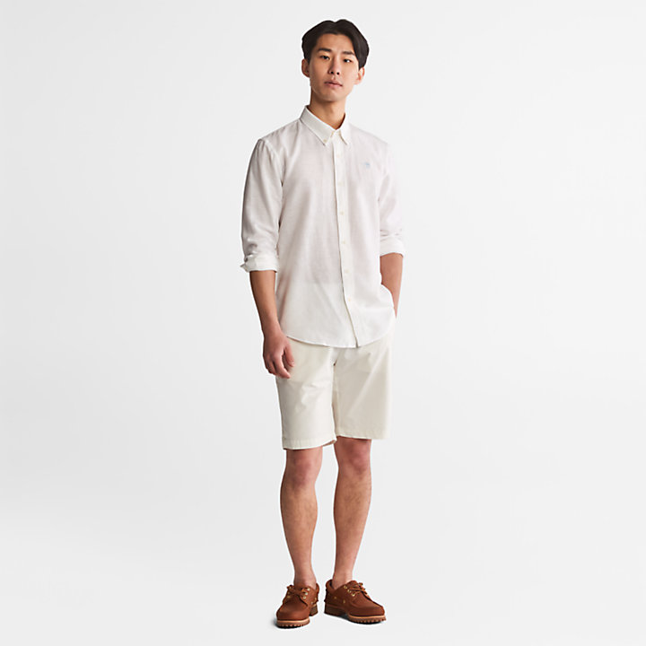 Lovell Long-sleeved Shirt for Men in White-
