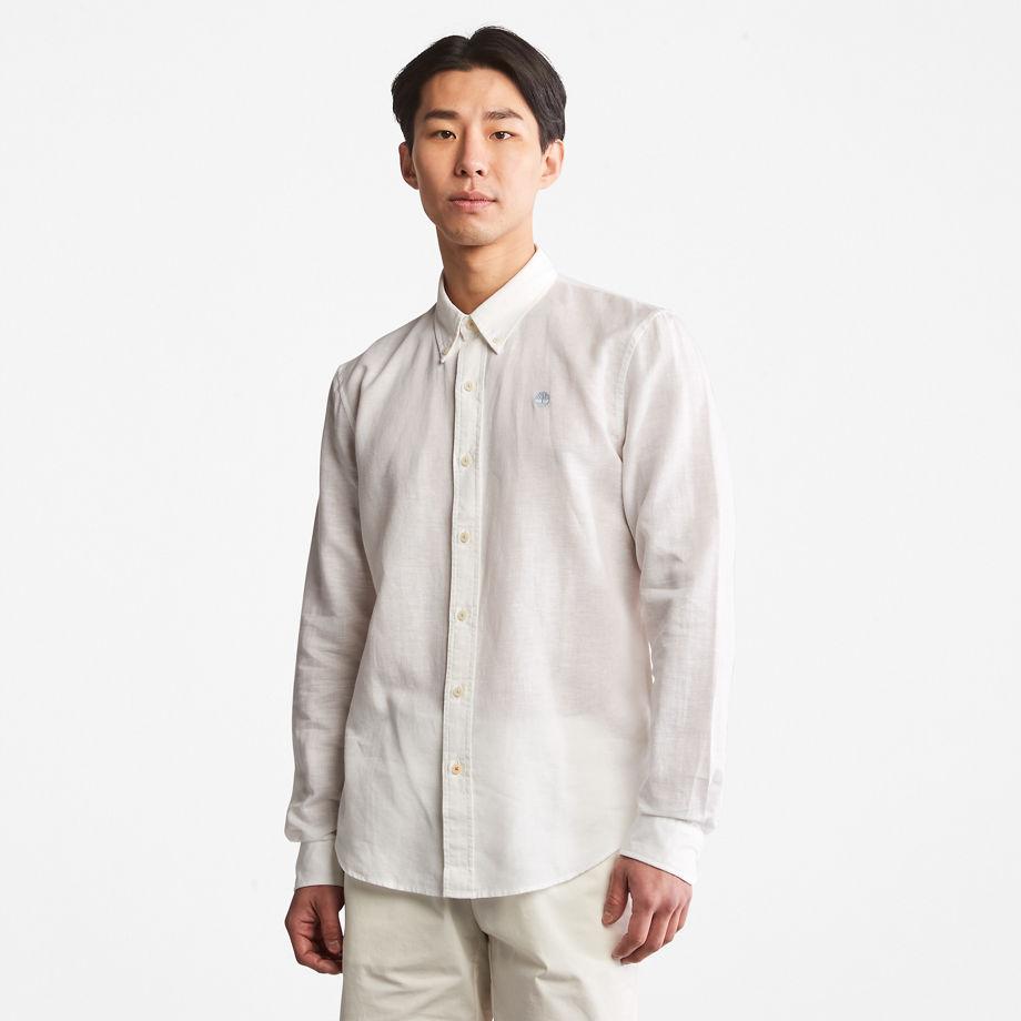 Timberland Lovell Long-sleeved Shirt For Men In White White, Size S