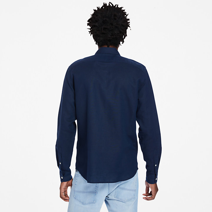 Lovell Long-sleeved Shirt for Men in Navy-