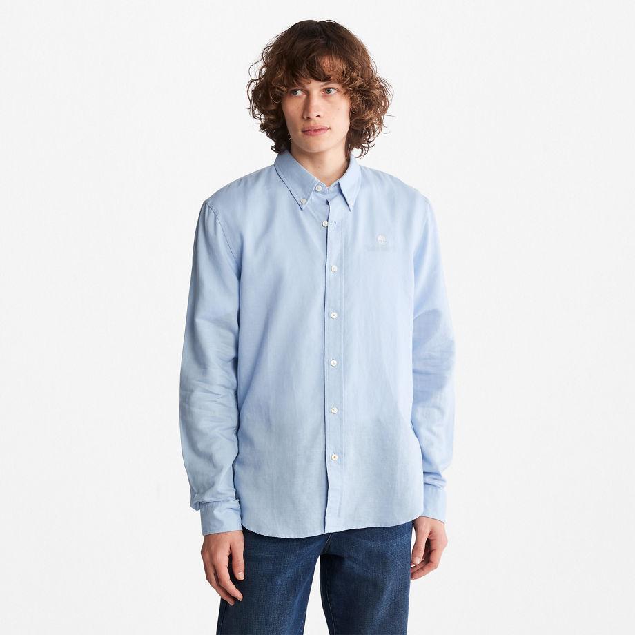 Timberland Lovell Long-sleeved Shirt For Men In Light Blue Light Blue, Size 3XL