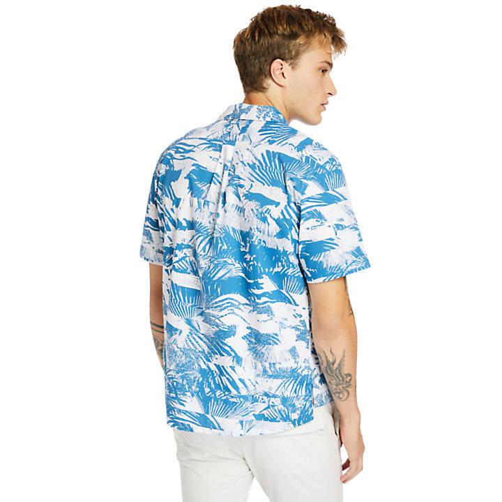 Chemise Resort en coton biologique pour homme en bleu marine-