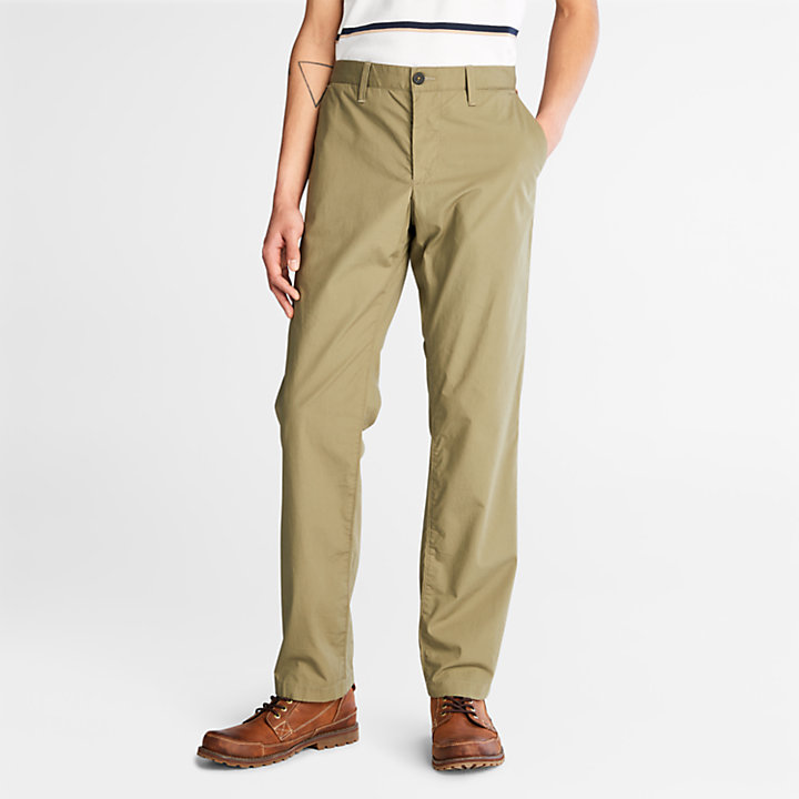 Squam Lake Stretch Chino Pants for Men in Green-
