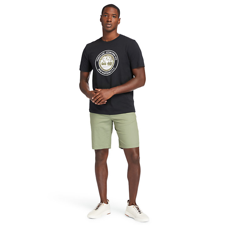 Squam Lake Stretch Shorts for Men in Green-