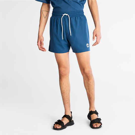 Solid-Colour Swim Shorts for Men in Blue | Timberland