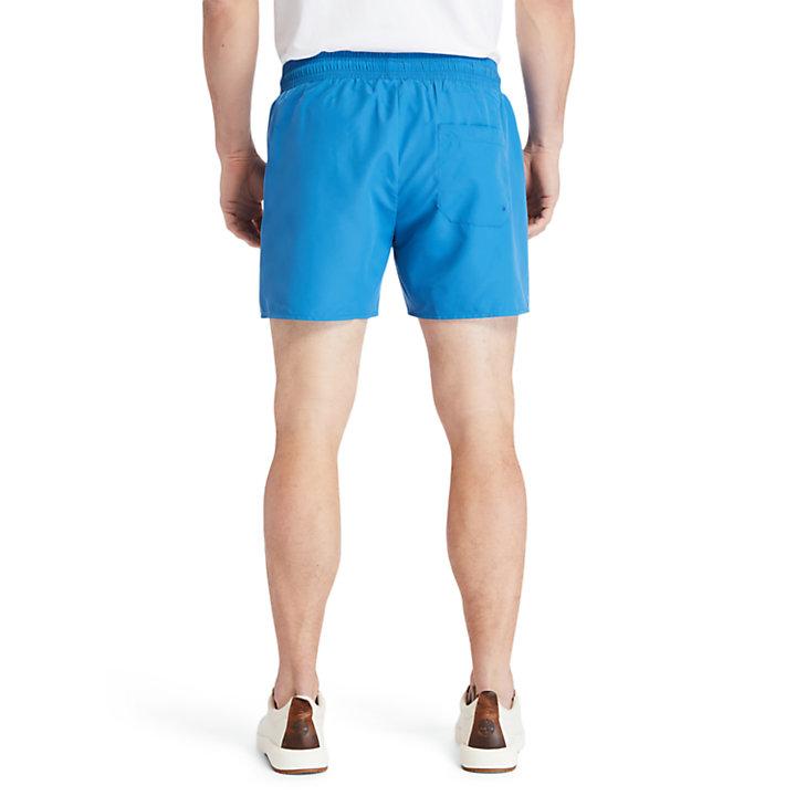 Bañador de color liso para hombre en azul verdoso-