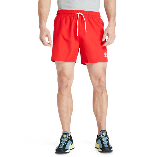 Solid-Colour Swim Shorts for Men in Red | Timberland