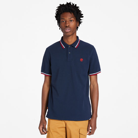 Millers River Tipped Polo Shirt for Men in Navy | Timberland