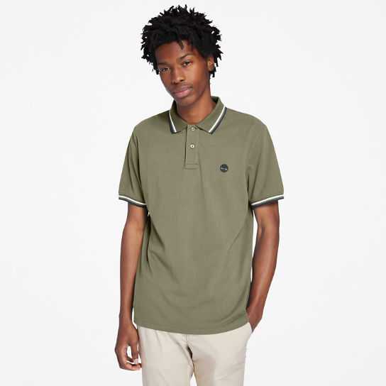 Millers River Tipped Polo Shirt for Men in Green | Timberland