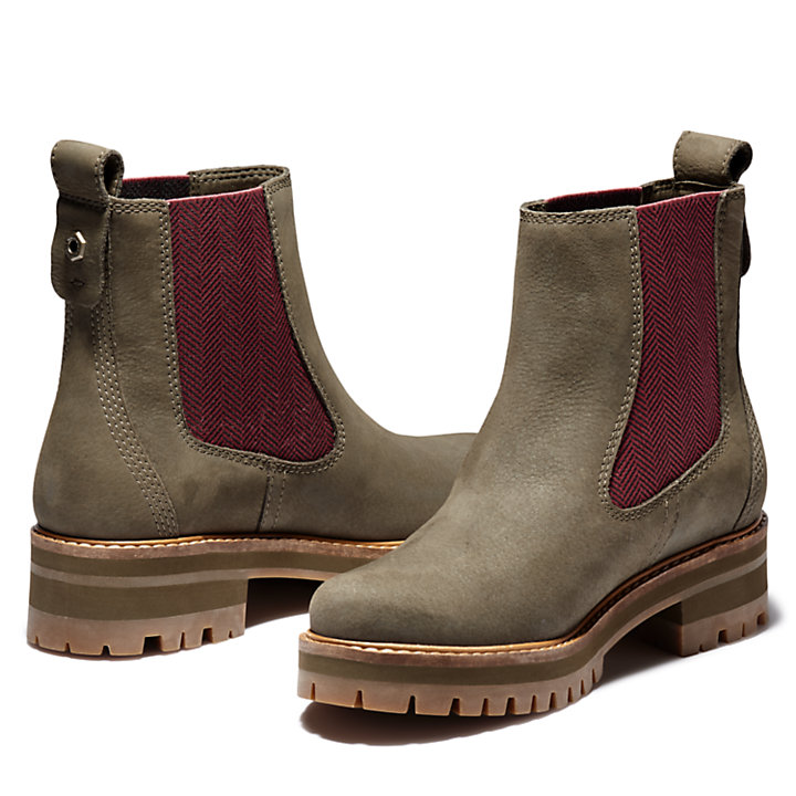 Courmayeur Chelsea Boot voor Dames in groen-