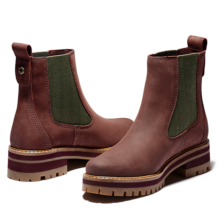 Courmayeur Chelsea Boot for Women in Burgundy-