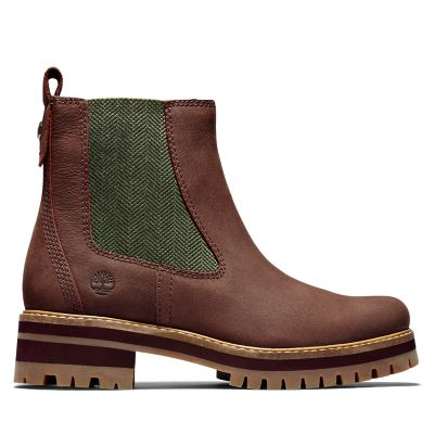 Courmayeur+Chelsea+Boot+for+Women+in+Burgundy