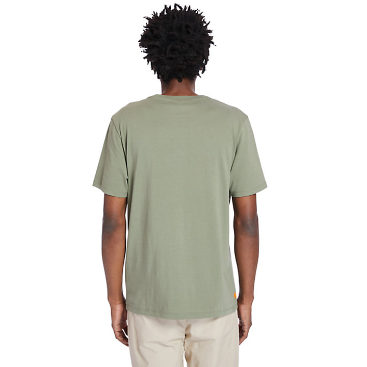 Front-Graphic T-Shirt for Men in Green-