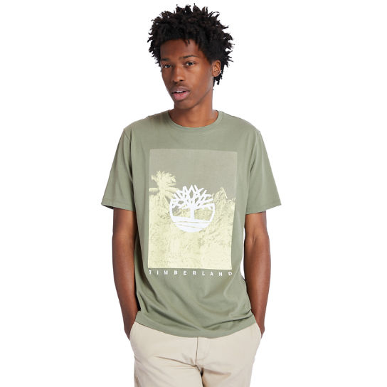 Front-Graphic T-Shirt for Men in Green | Timberland