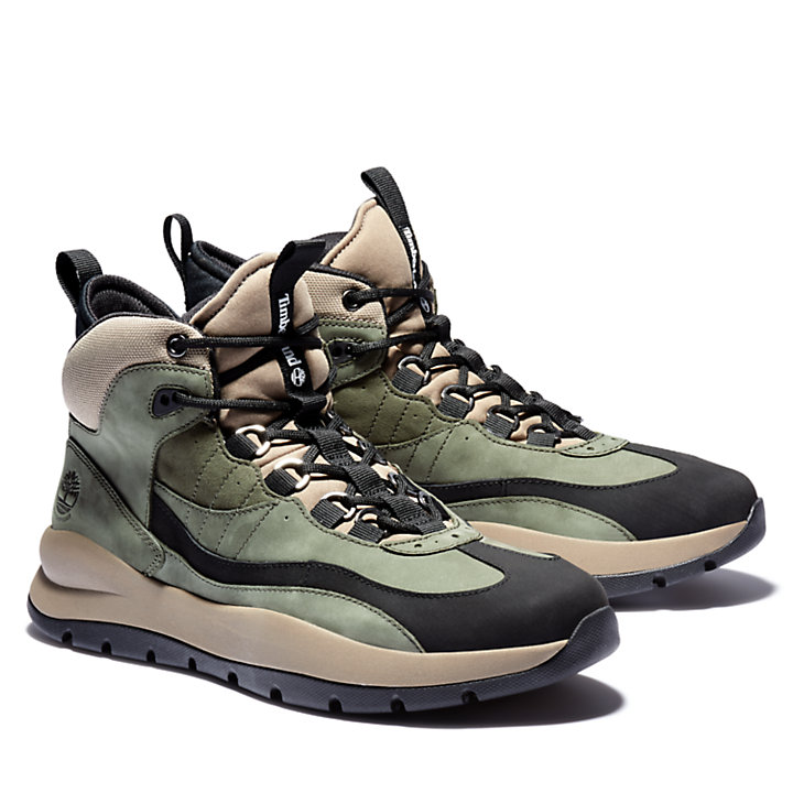 Boroughs Project Mid Boot for Men in Green-