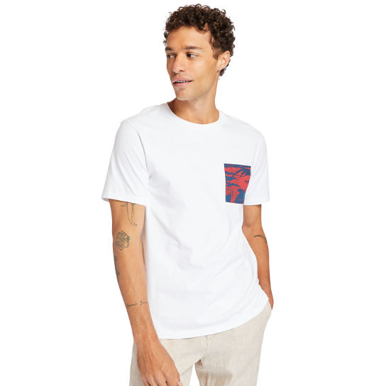 Print-Pocket T-Shirt for Men in White | Timberland