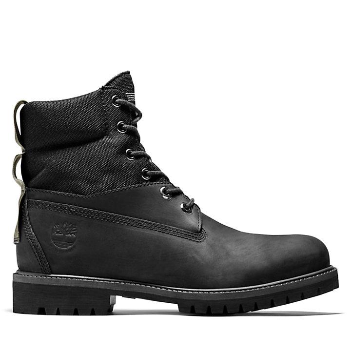 Bota 6 inch Premium para Hombre en color negro granulado-