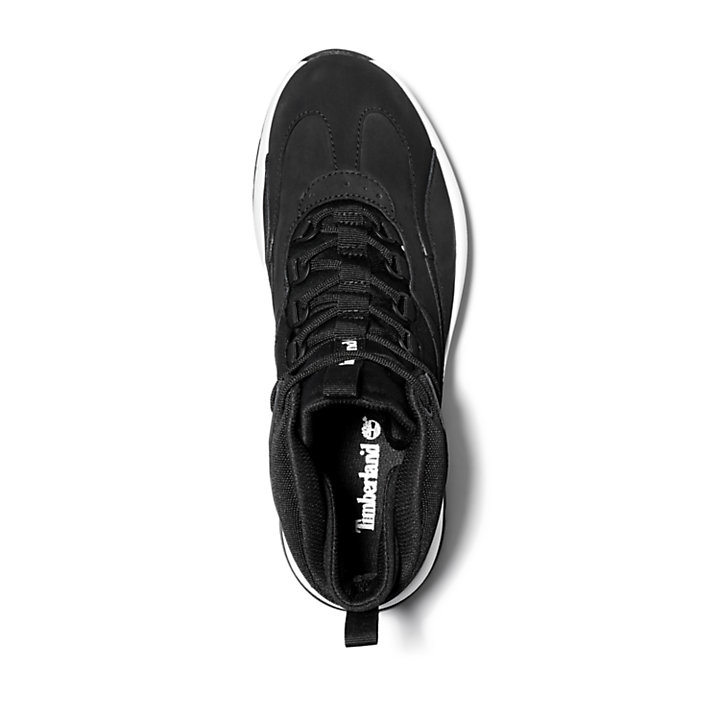 Bottine mi-haute Boroughs Project pour homme en noir-