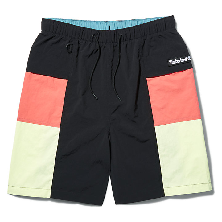 Outdoor Archive Trail Shorts for Men in Black/Red-
