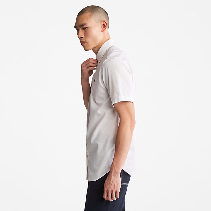 Gale River Oxford Shirt for Men in White-