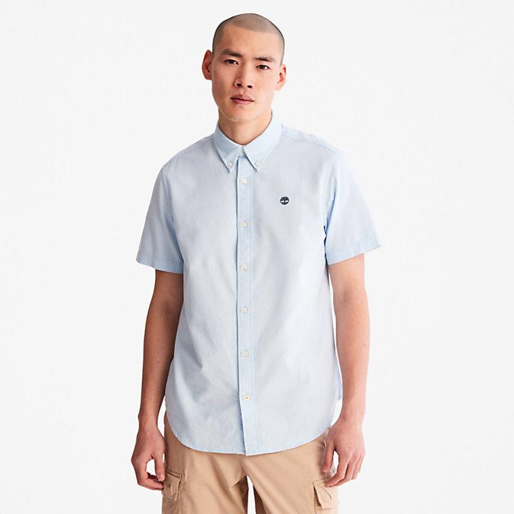 Chemise oxford Gale River pour homme en bleu clair-
