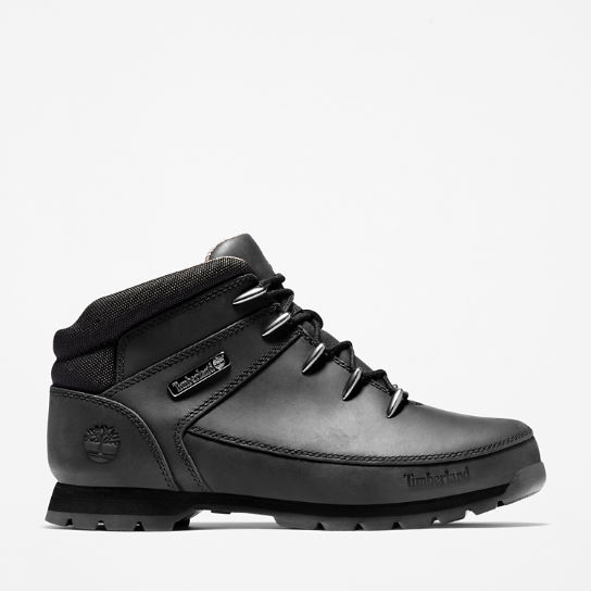 Euro Sprint Mid Hiker for Men in Monochrome Black | Timberland