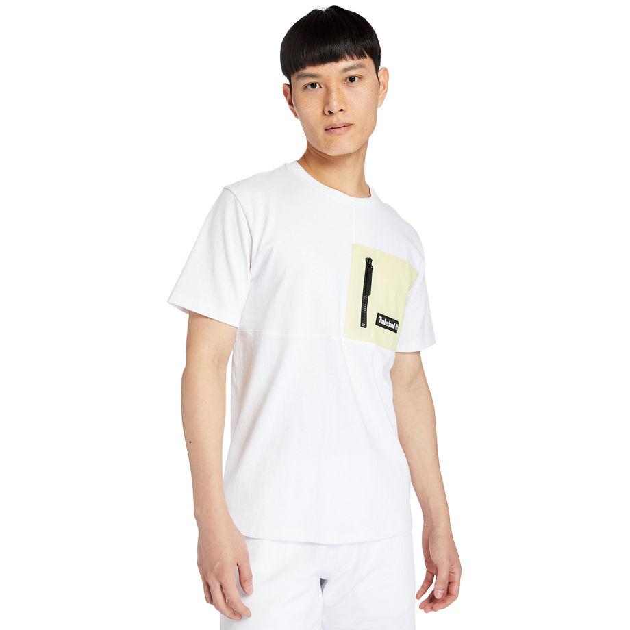 Timberland Outdoor Archive T-shirt For Men In White White, Size 3XL