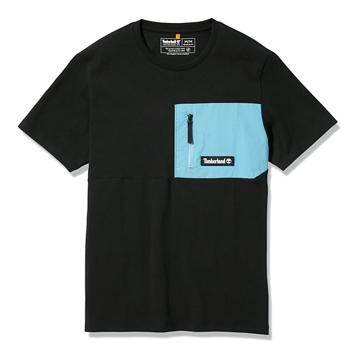 Camiseta Outdoor Archive para Hombre en color negro-