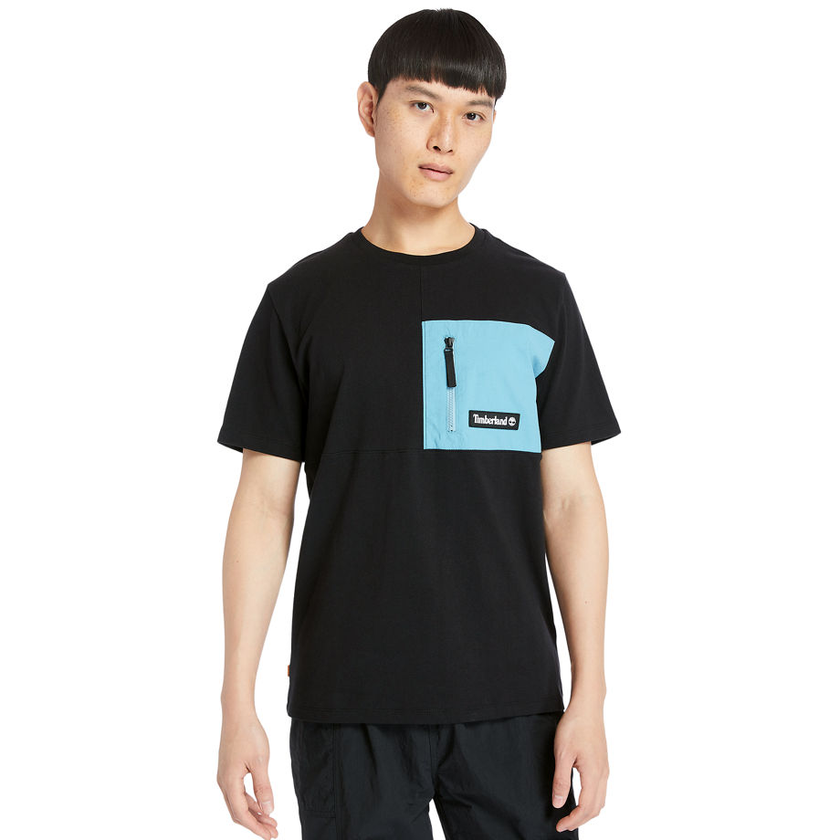 Timberland Outdoor Archive T-shirt For Men In Black Black, Size 3XL