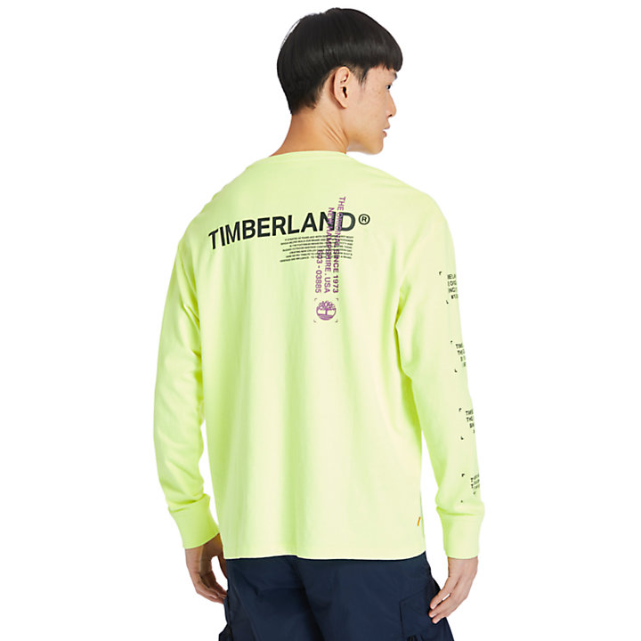 Garment-Dyed LS T-Shirt for Men in Yellow-
