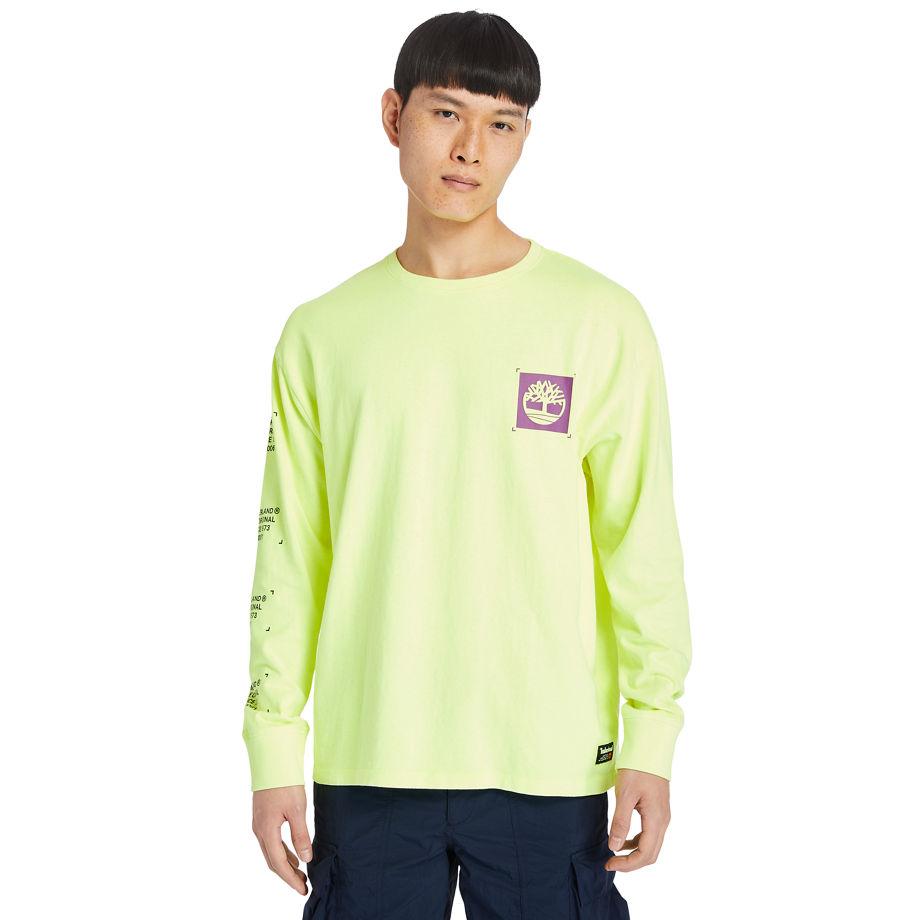 T-shirt À Manches Longues Teint En Pièce En , Taille L - Timberland - Modalova