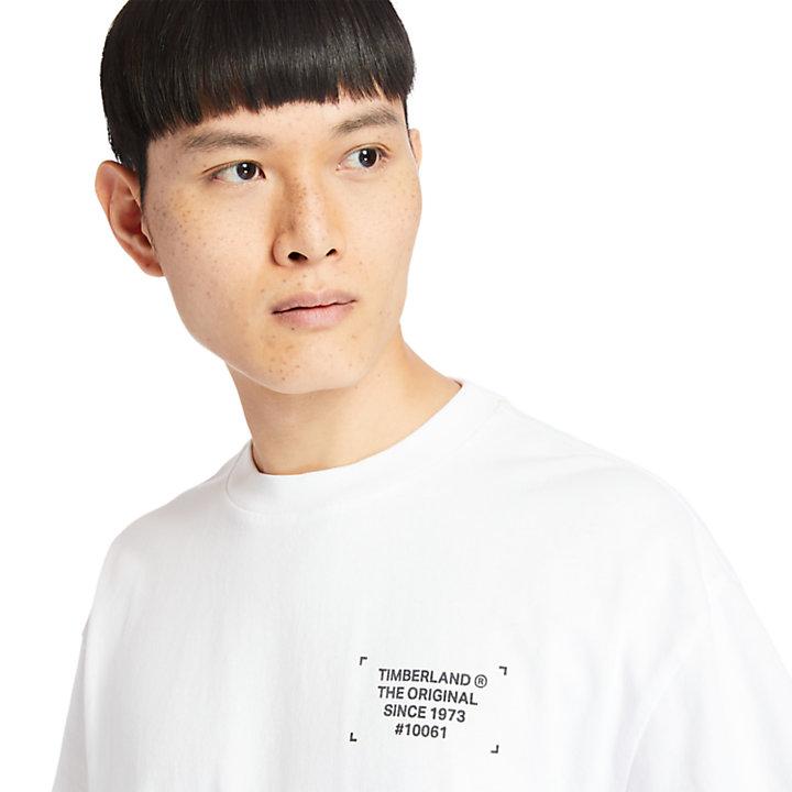 T-shirt Graphic teint en pièce pour homme en blanc-