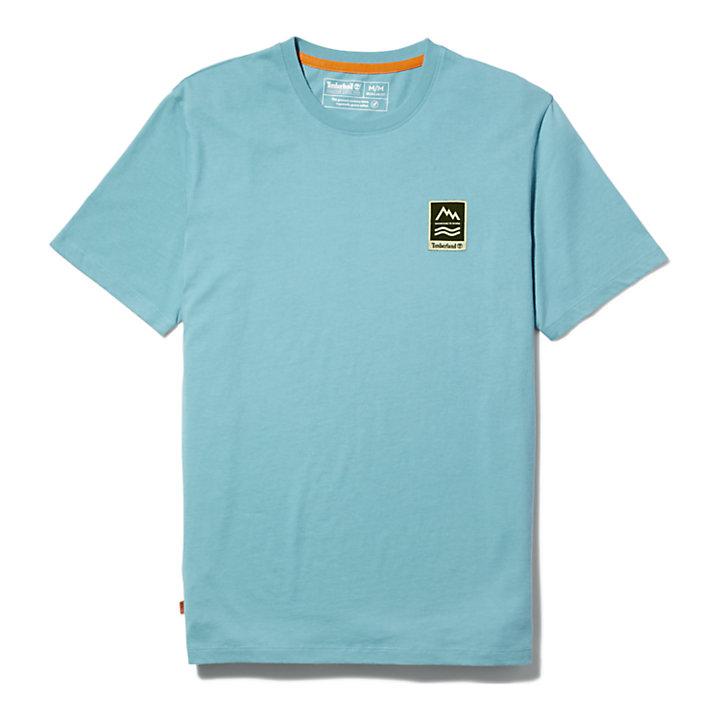 T-shirt graphique Outdoor Archive pour homme en bleu-